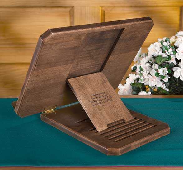 Wooden Bible Stand ~ Ihs bible stand adjustable carved wood