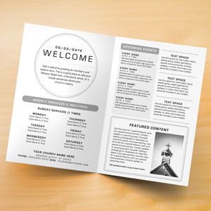 Church Bulletins | Bulletin Printing Template | Concordia Supply