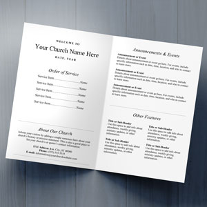Traditional Bulletin Template 2