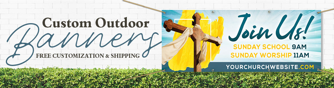 Outdoor Church Banners