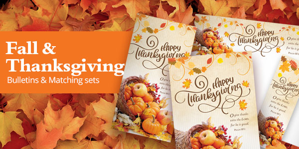 Fall & Thanksgiving Matching Bulletin Sets