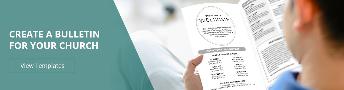 Bulletin Printing Template  Church Bulletins  Free