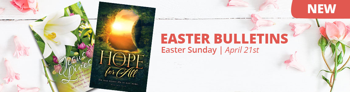 easter church bulletins