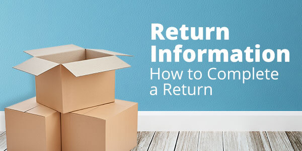 Return Information