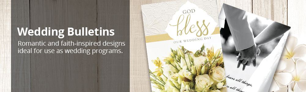 wedding church bulletins