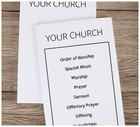 Church worship bulletins church bulletin paper for Weekly bulletin template