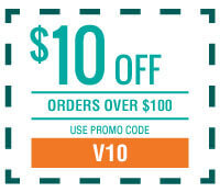 $10 off Orders Over $100 with Promo Code V10