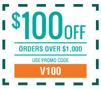 $100 off Orders Over $1,000 with Promo Code V100