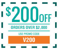 $200 off Orders Over $2,000 with Promo Code V200