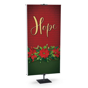 Poinsettia Hope Banner