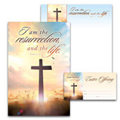 Easter Bulletin Set: I am the Resurrection - H3561