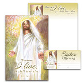 Easter Bulletin Set: John 14:19 Bilingual Set - H3601
