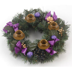 YD028 - Brass Advent Wreath 19