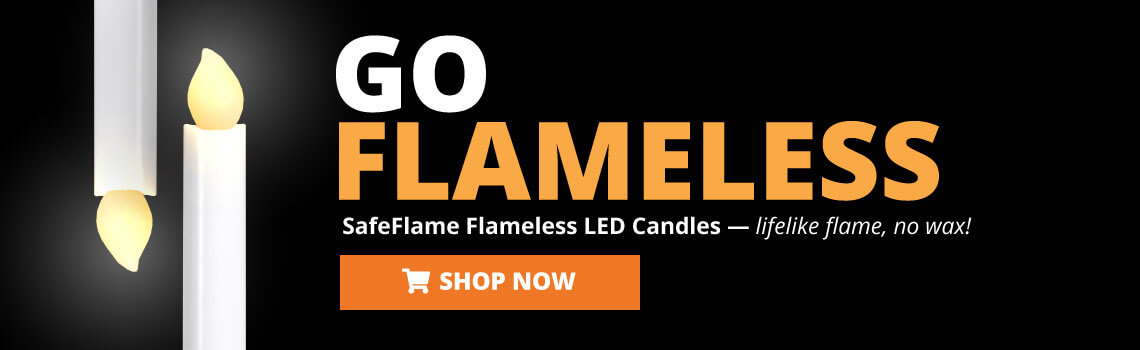 SafeFlame LED Battery Candles