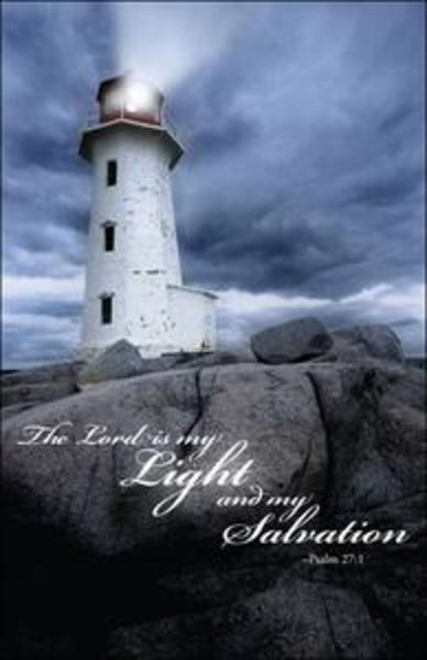 Church Bulletin 11 Quot Inspirational Praise Lord Is My Light Pack Of 100