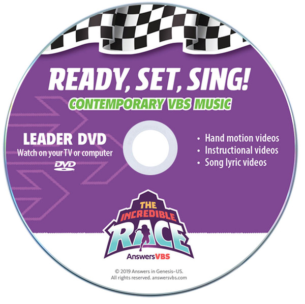 Ready - Set - Sing! Music Leader Set - Contemporary - The Incredible Race  VBS By Answ