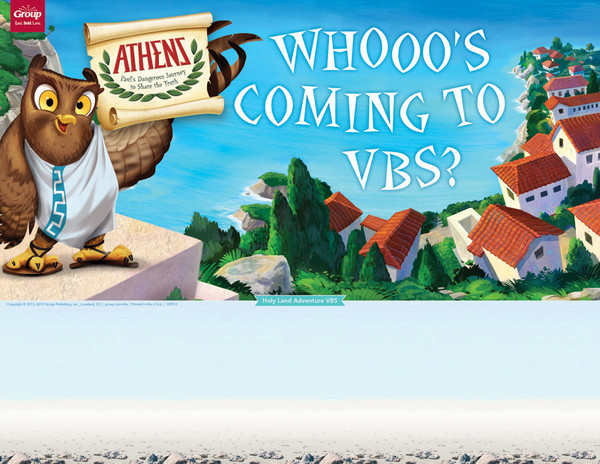 Publicity Posters Pack Of 5 Athens Vbs By Group