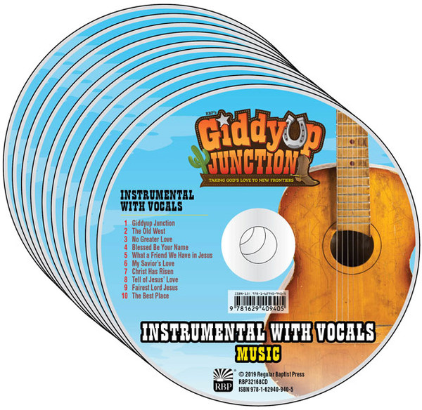 Instrumental w/ Vocals Music CD - Pack of 10 - GiddyUp Junction VBS By RBP