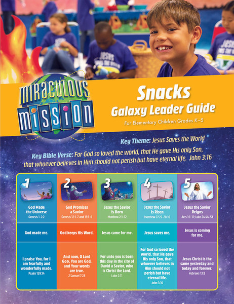 Galaxy Snack Guide Miraculous Mission Vbs By Cph