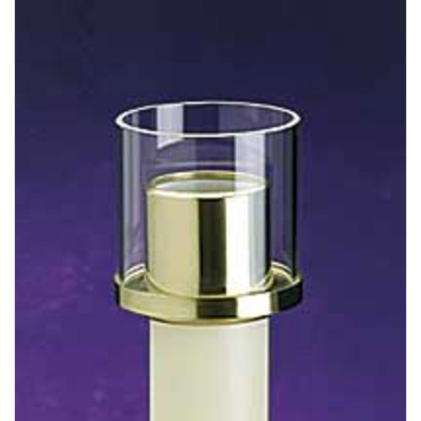 2 Quot Glass Shield Emitte Candles