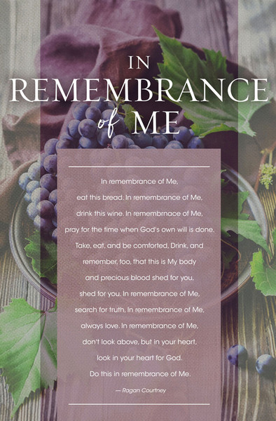 Church Bulletin 11 Quot Communion In Remembrance Of Me