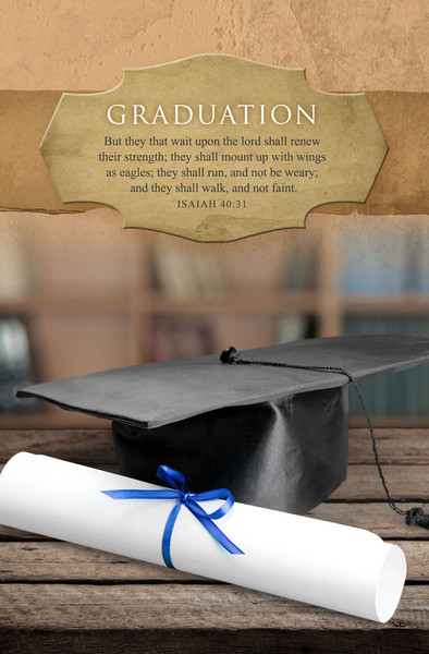 church bulletin graduation diploma pack of