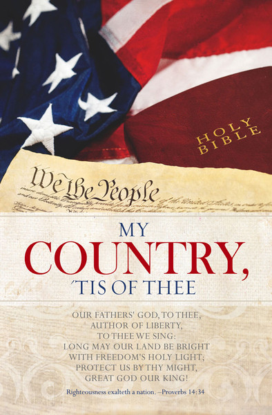 """Church Bulletin 11"""" - Patriotic - My Country (Pack of 100)"""