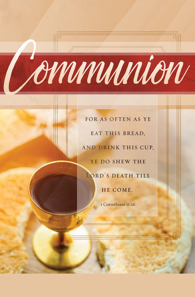 Church Bulletin 11 Quot Communion Pack Of 100