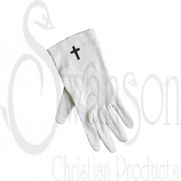 White Gloves W Cross Only Xlg