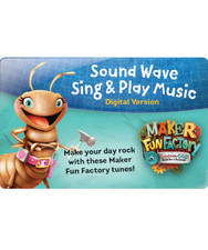 Sound Wave Sing & Play Music Download Card (NR) - Maker Fun Factory