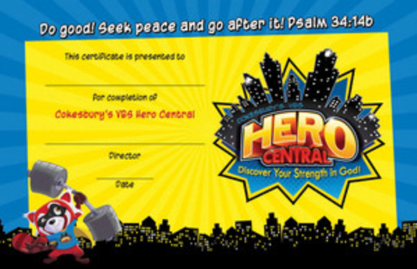 Student Certificates (Pkg of 48) - Hero Central VBS