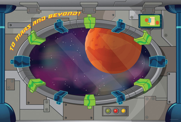 Decorating Mural 3 Panels To Mars And Beyond Vbs By