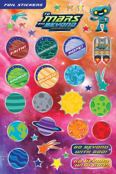 Foil Stickers Pack Of 144 To Mars And Beyond Vbs By
