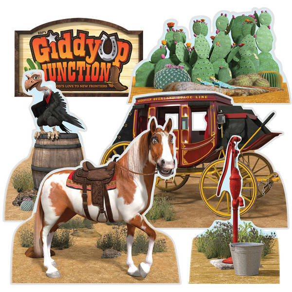 Theme Cutouts Set Of 6 Panels Giddyup Junction Vbs By Rbp