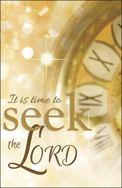 Church Bulletin 11 Quot New Year Seek The Lord Pack Of 50