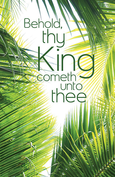 Church Bulletin 11 Quot Palm Sunday Behold Thy King Pack