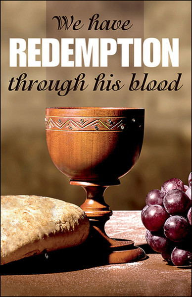 Church Bulletin 11 Quot Communion Redemption Pack Of 50