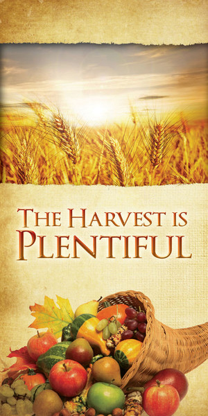 Church Banner Thanksgiving Harvest Is Plentiful