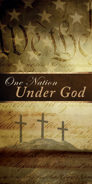 Church Banner Patriotic One Nation Under God