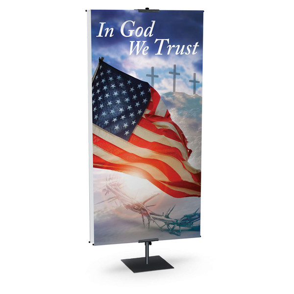 Church Banner Patriotic In God We Trust