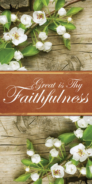 Church Banner Inspirational Great Is Thy Faithfulness