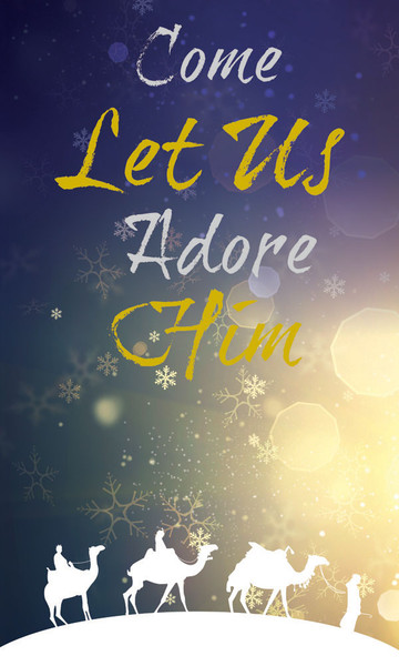 Church Banner Christmas Come Let Us