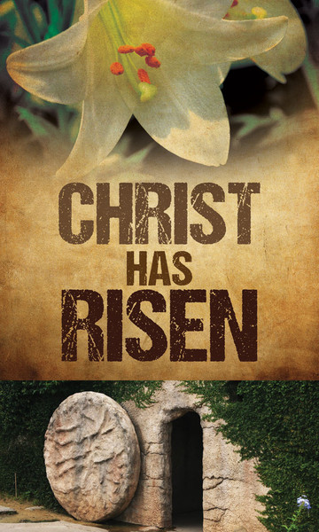 Church Banner Easter Christ Has Risen