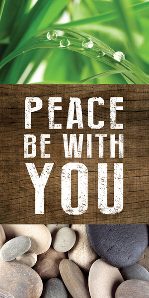 Church Banner Inspirational Peace Be With You