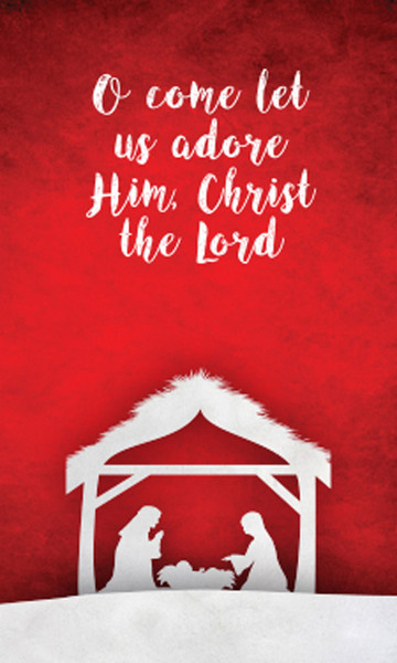 Church Banner Christmas O Come Let Us Adore Him