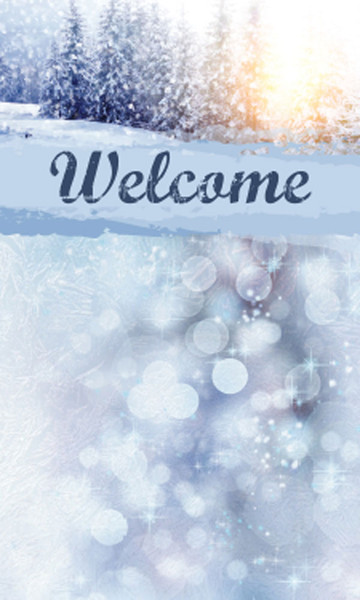 Church Banner Christmas Welcome