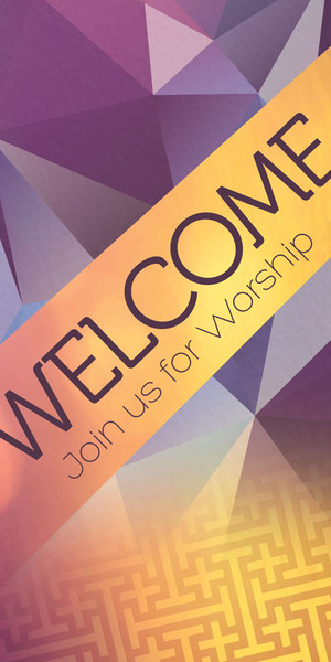 Church Banner Welcome Join Us