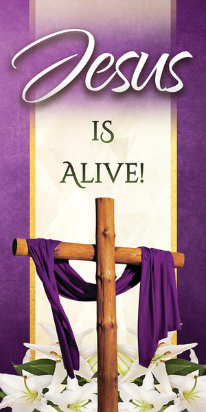 Church Banner Easter Jesus Is Alive