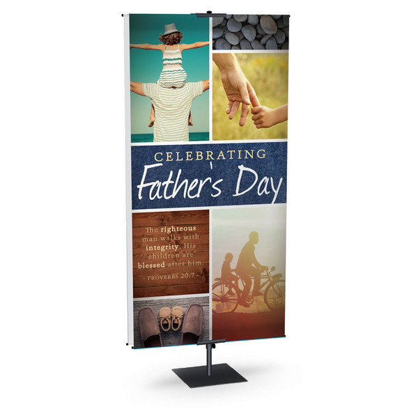 Church Banner Father S Day Proverbs 20 7