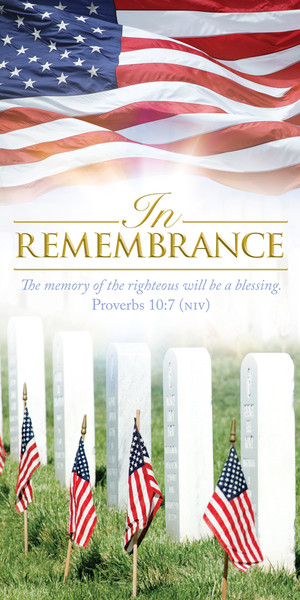 Church Banner Patriotic In Remembrance